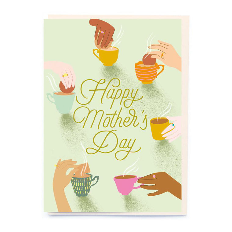 Teacups & Hands Mother's Day Card