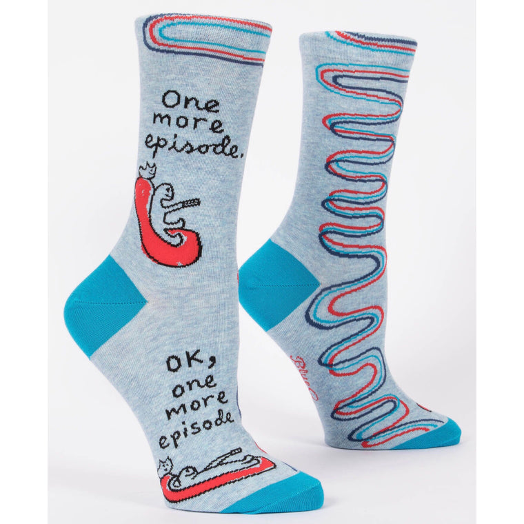 Blue Q Crew Socks - One More Episode