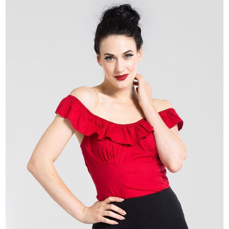 Hell Bunny Rio Top - Red