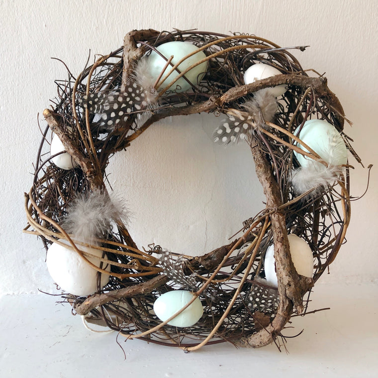 Twiggy Duck Egg Easter Wreath