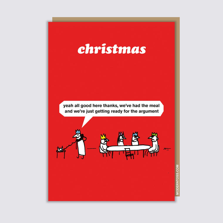 Christmas Argument Christmas Card