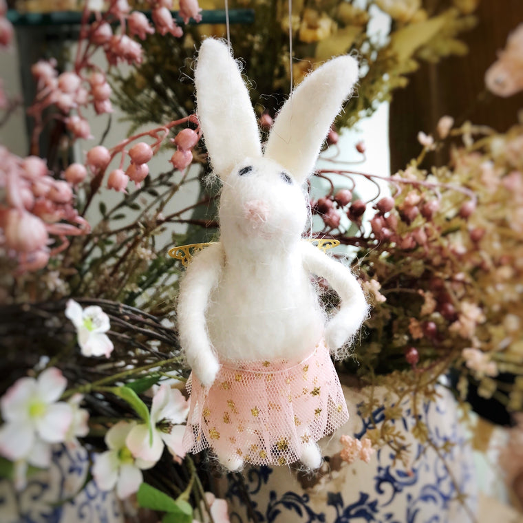 Wool Fairy Easter Bunny Hanging Decoration