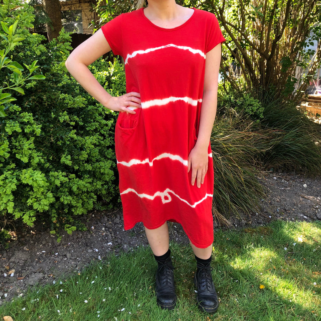 T-Shirt Dress - Tie Dye Red