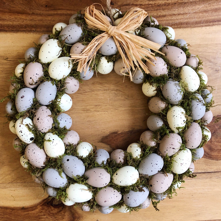Lilac Egg Easter Wreath
