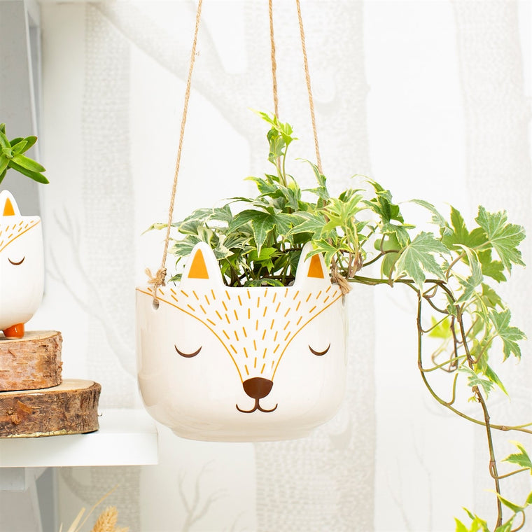 Woodland Fox Hanging Plant Pot
