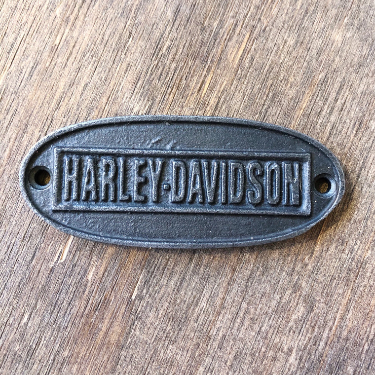 Cast Iron Harley-Davidson Plaque