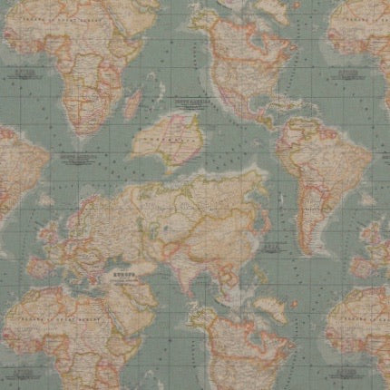 Annie Sloan Fabric World Map