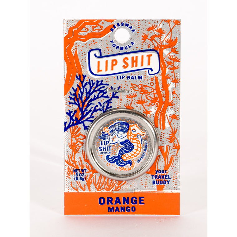 Blue Q Lip Shit Lip Balm - Orange & Mango