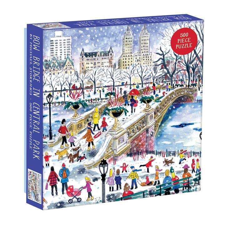 Michael Storrings Bow Bridge In Central Park 500 Piece Jigsaw Puzzle