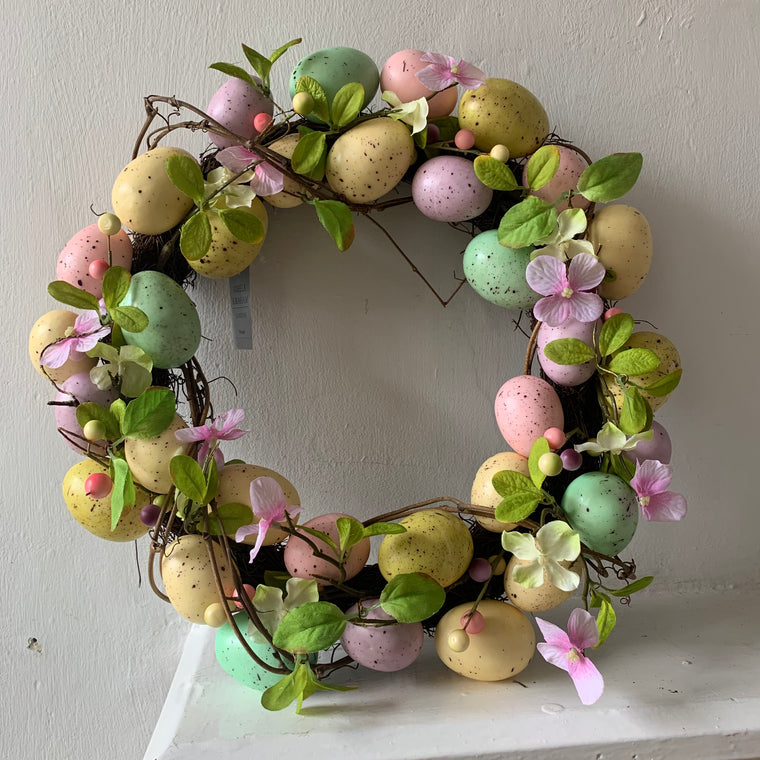 Pastel Egg Easter Wreath