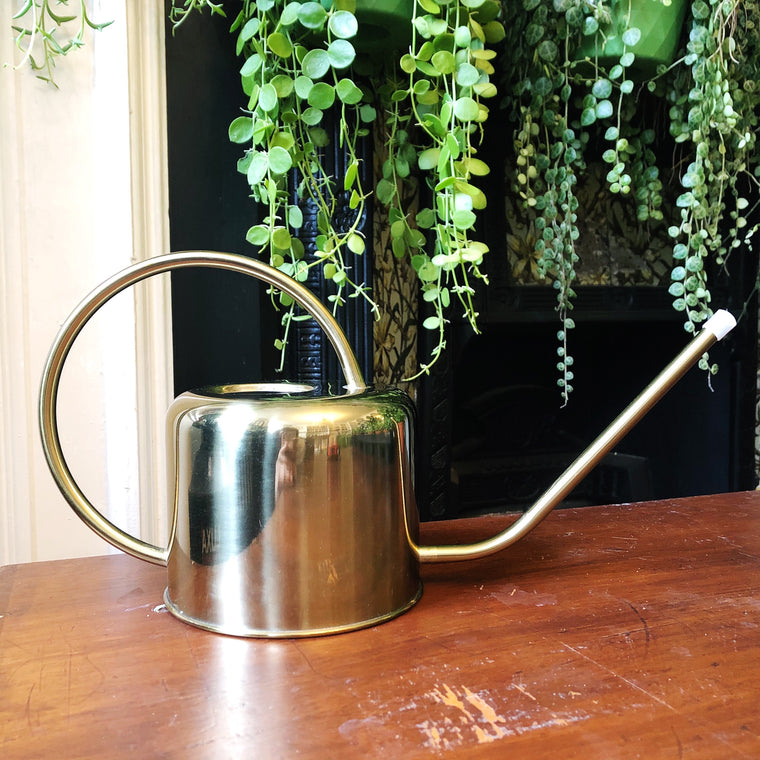 Vintage Style Watering Can - Gold Colour