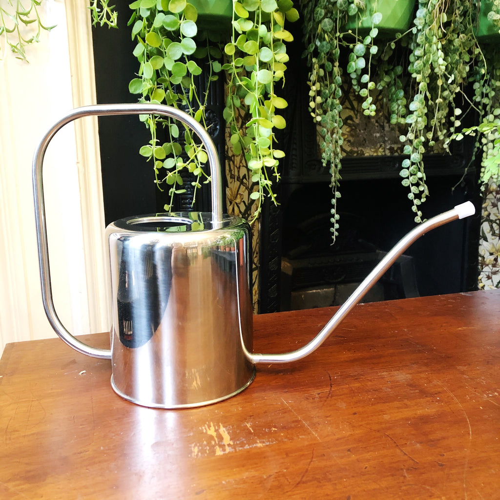 Vintage Style Watering Can - Silver Colour