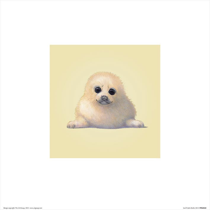 Baby Animal Art Print Seal - 30 x 30cm