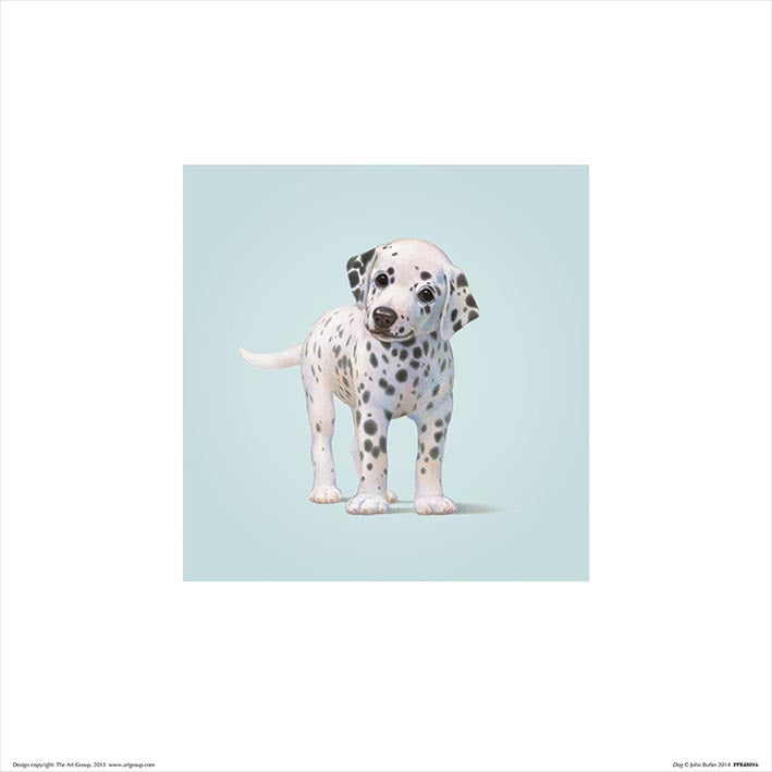 Baby Animal Art Print Dog - 30 x 30cm