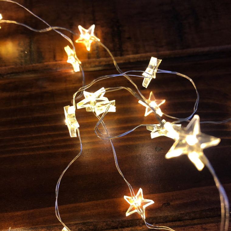 Micro LED Star Fairy Lights - Warm White