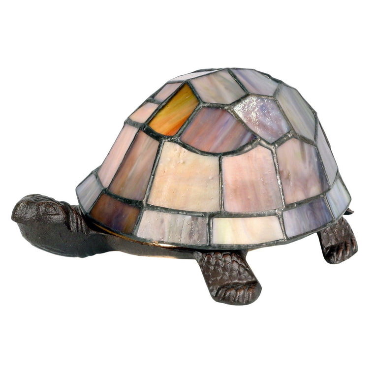 Tortoise Tiffany Lamp - Pearl