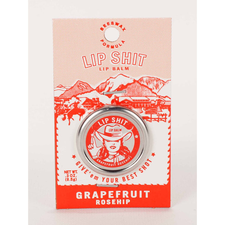 Blue Q Lip Shit Lip Balm - Grapefruit & Rosehip