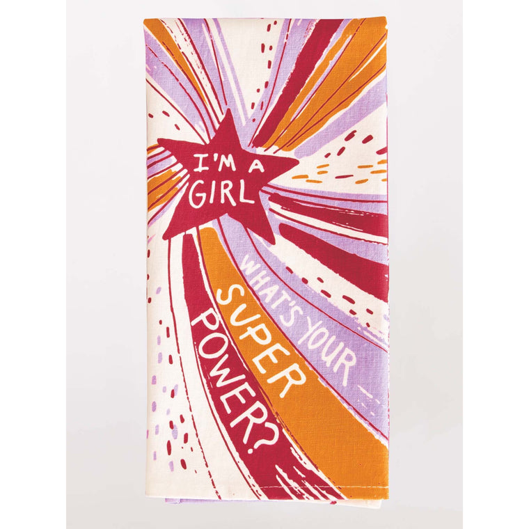 Blue Q Tea Towel - I'm A Girl, What's Your Superpower?