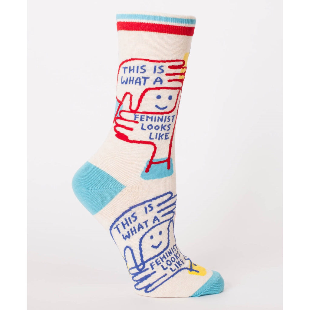 Blue Q Crew Socks - This Is What A Feminist Looks Like