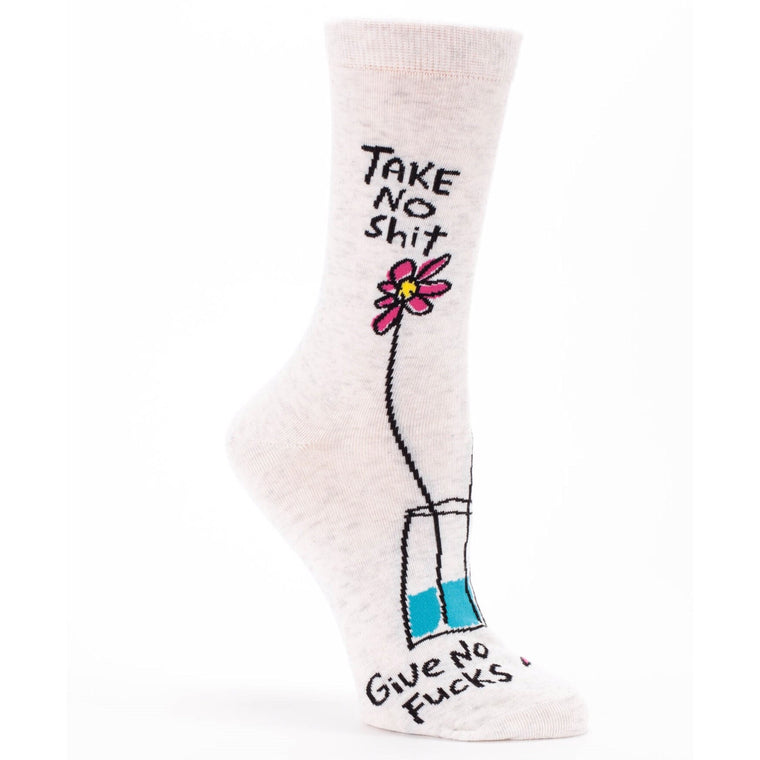 Take No Shit Give No Fucks - Crew Socks