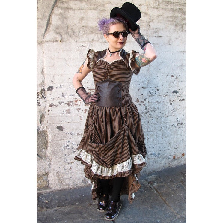Banned Steampunk Victorian Lace Corset Dress