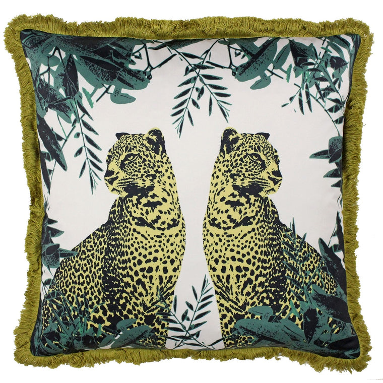 Twin Leopards Cushion