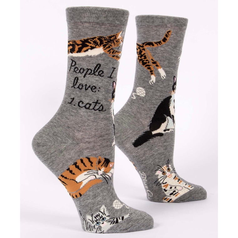 People I Love: Cats - Crew Socks