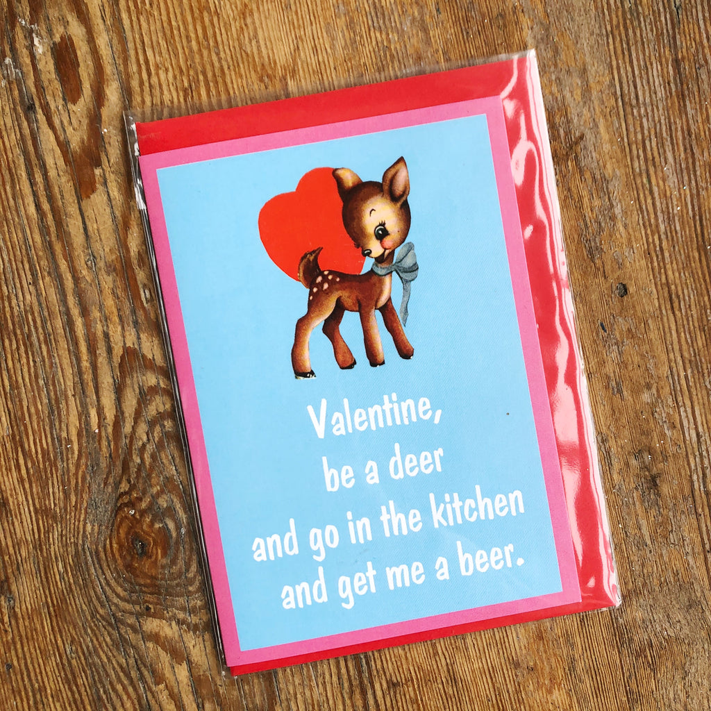 Valentine, Be a Deer Card