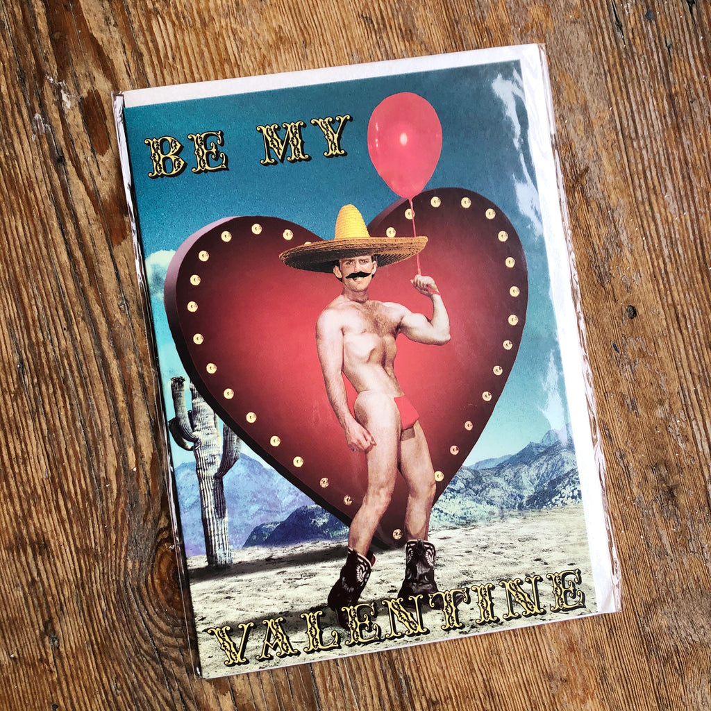 Be My Valentine Red Balloon Card
