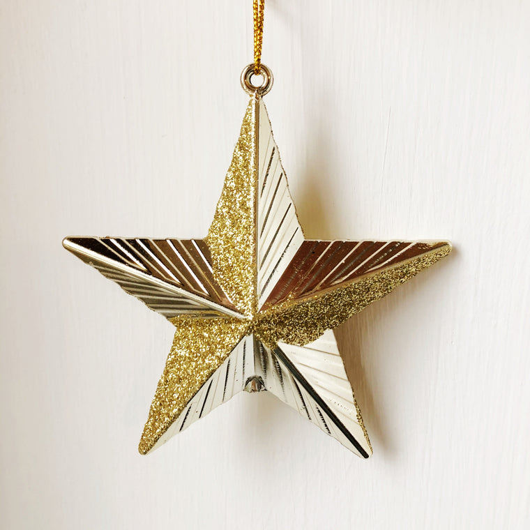 Gold Glittered Star
