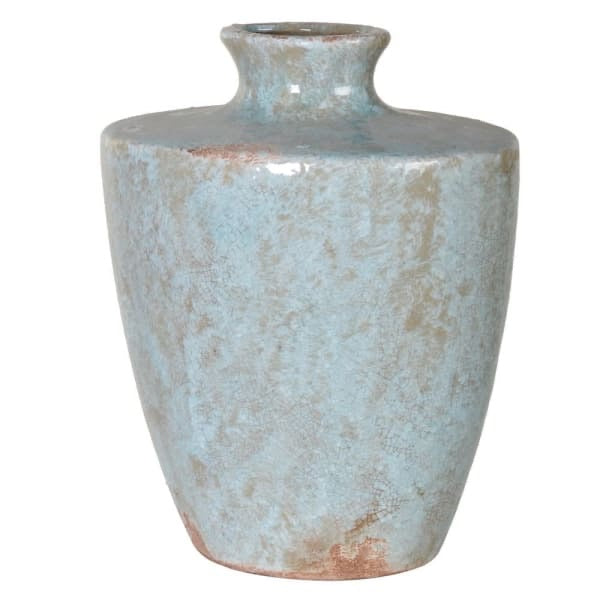 Blue Distressed Vase