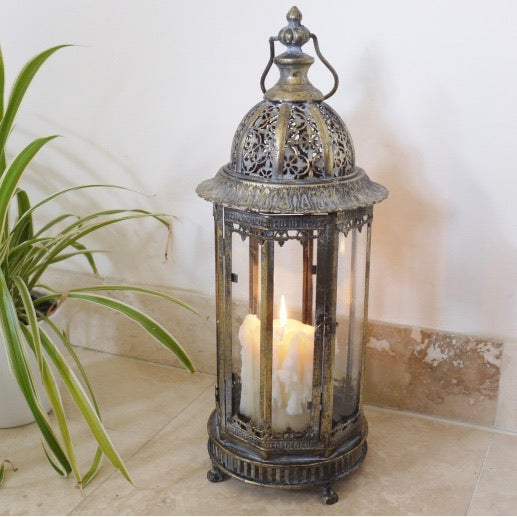 Ornate Brass Lantern Large