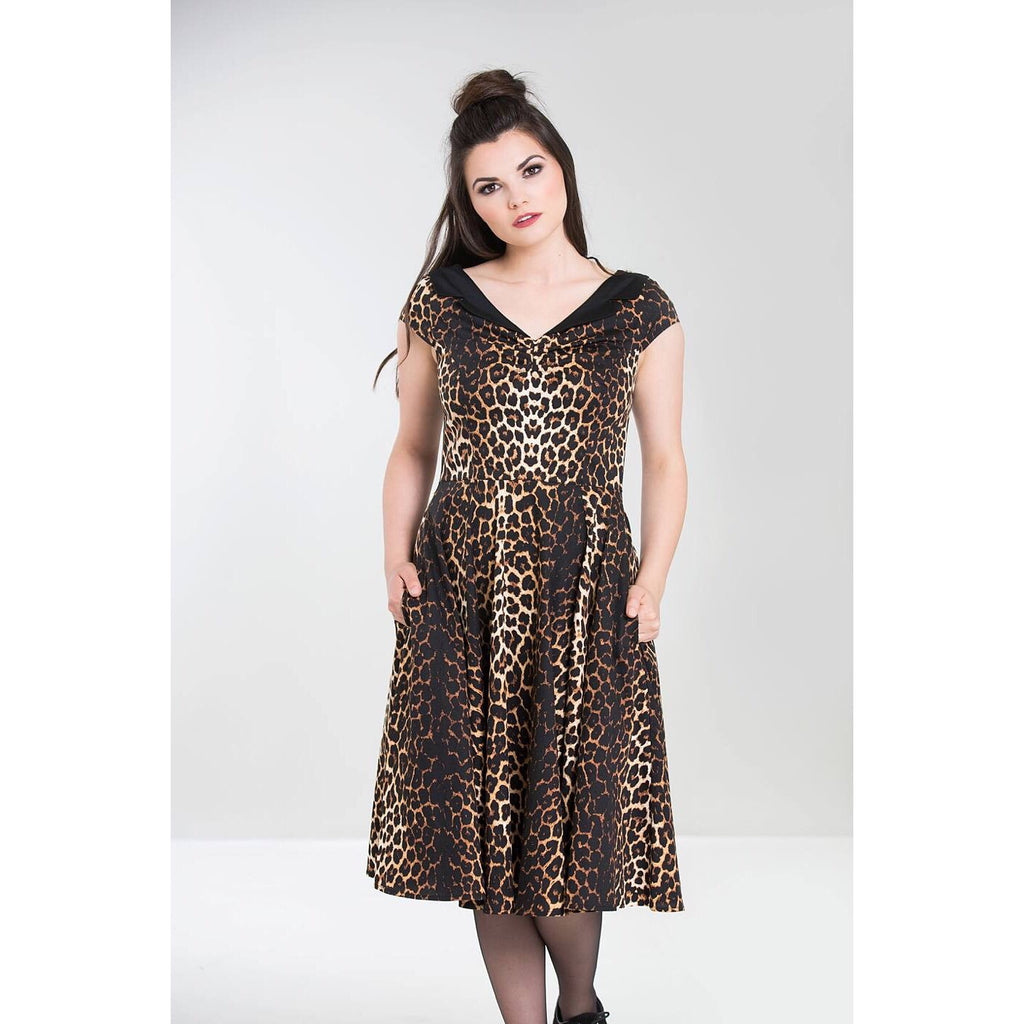 Hell Bunny Panthera 50's Leopard Print Dress