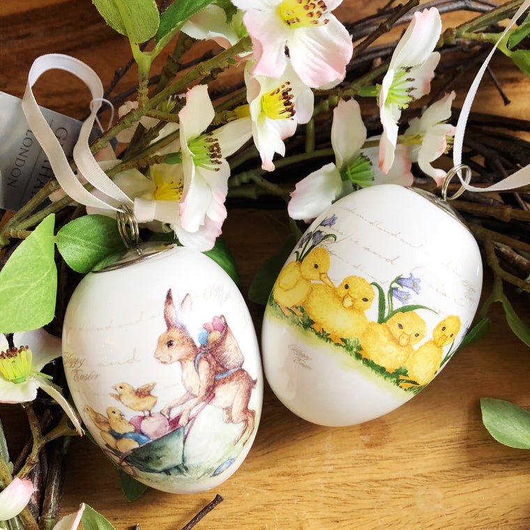 Ceramic Easter Egg Decoration - 2 Styles