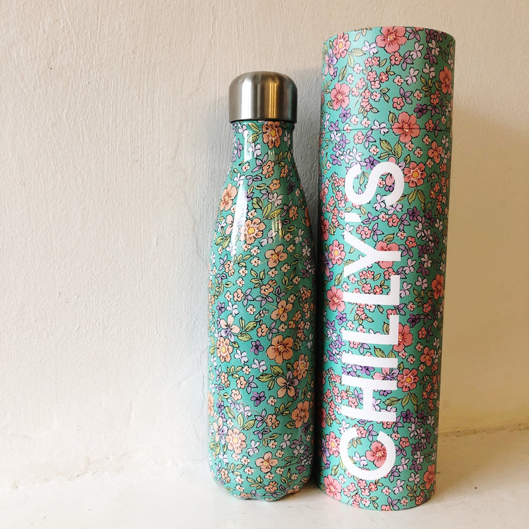 Chilly's 500ml Bottle - Floral Peony