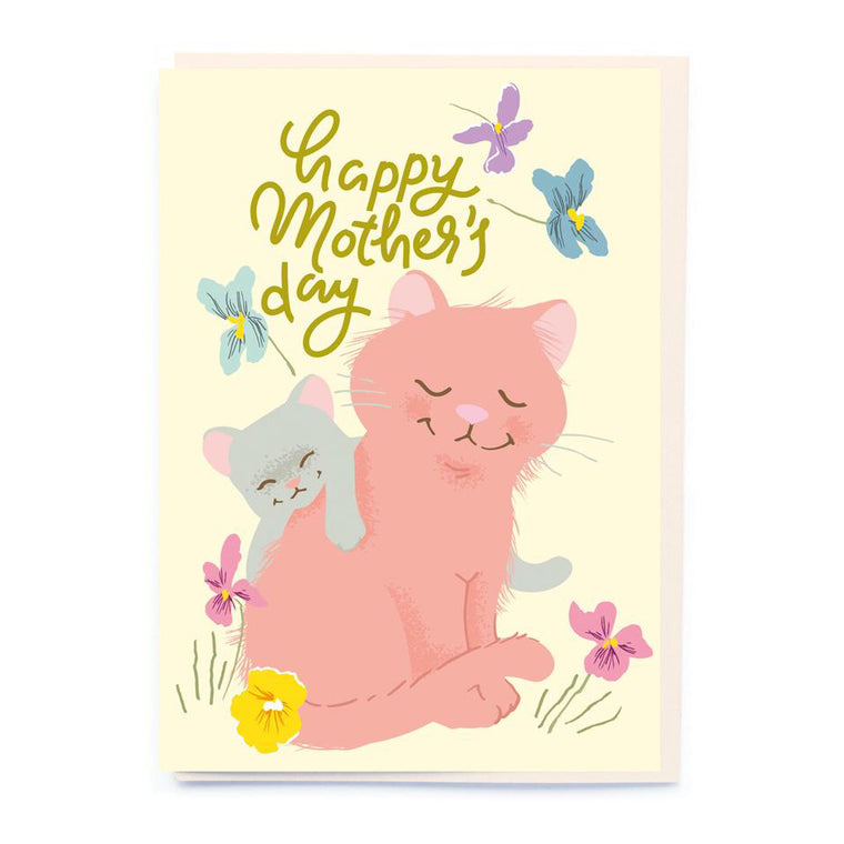 Mother & Baby Cat Mother's Day Card