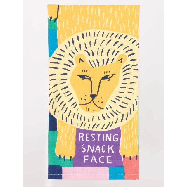 Resting Snack Face - Tea Towel