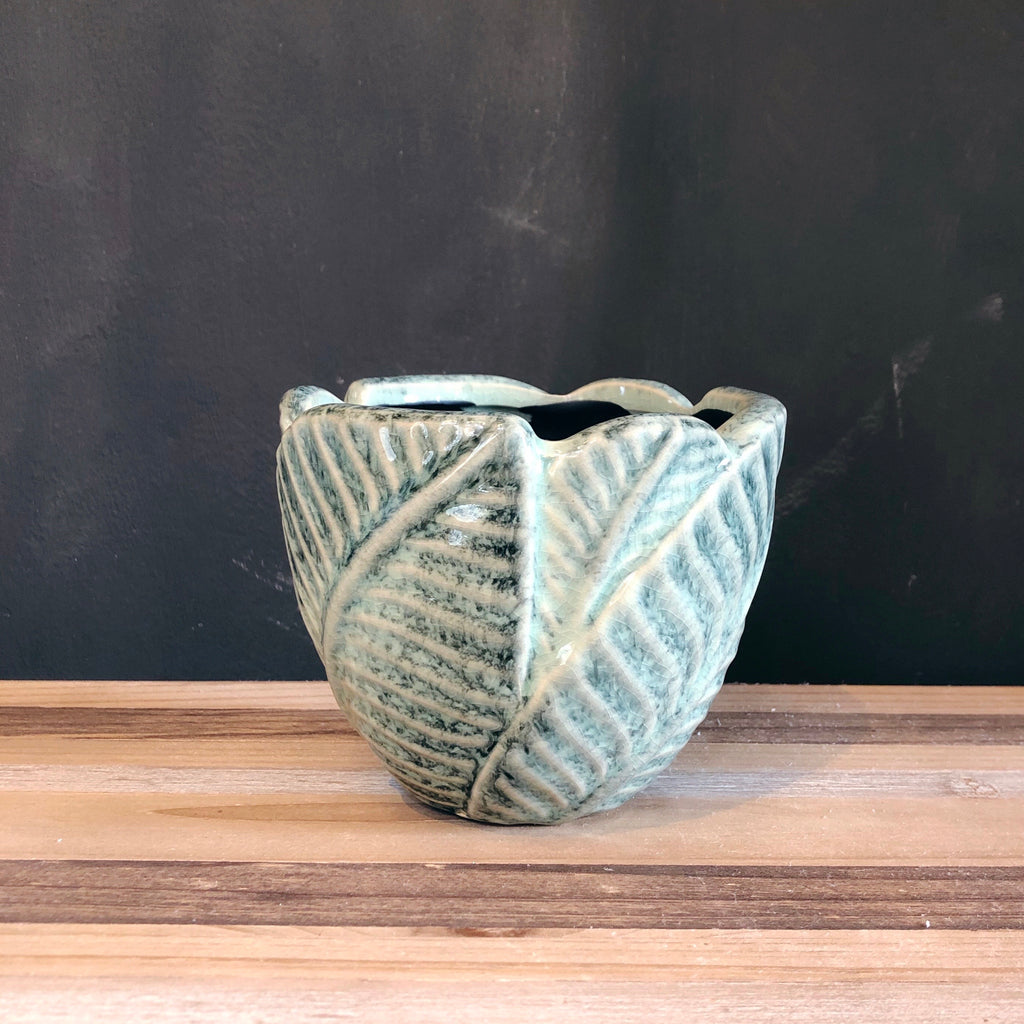 Textured Leaf Plant Pot - 3 Sizes