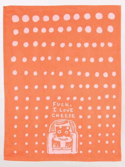 Blue Q Teal Towel - Fuck, I Love Cheese