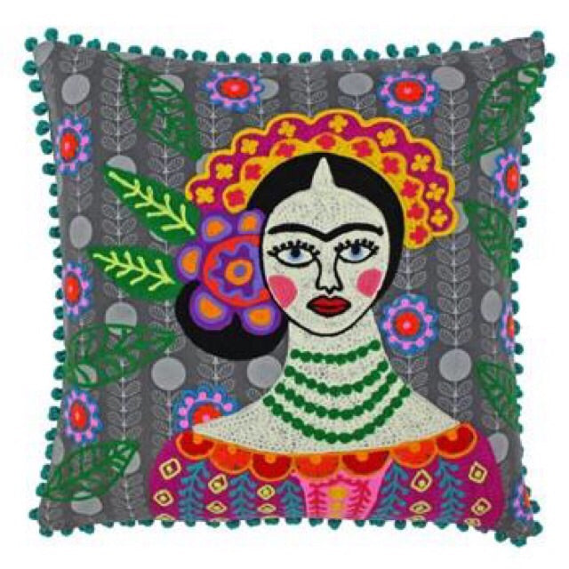 Embroidered Frieda Cushion