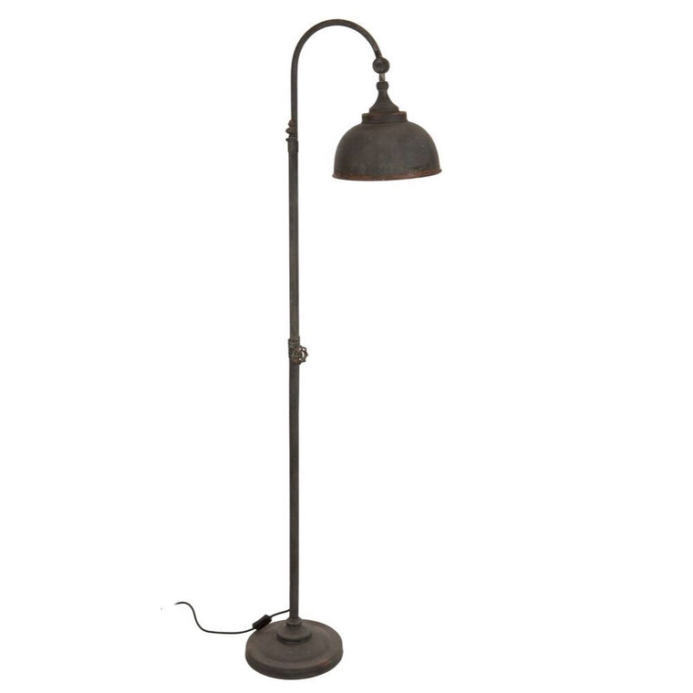 Distressed Effect Industrial Style Arch Floor Lamp