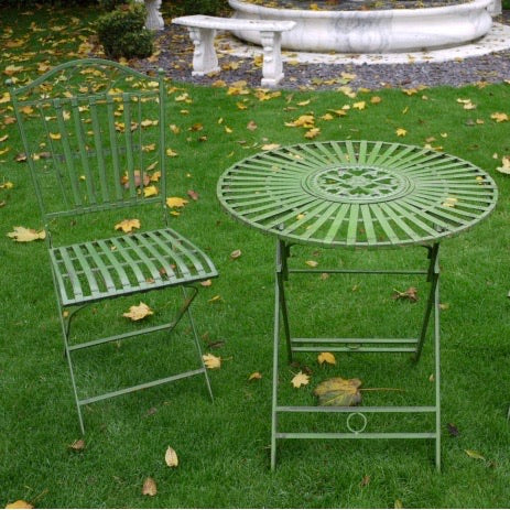 Garden Table & Chair Set - Green