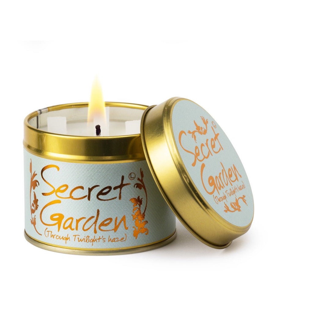 Lily-Flame Scented Tin Candle - Secret Garden