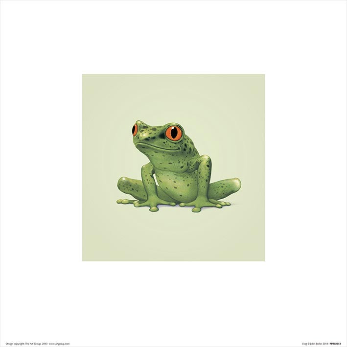 Baby Animal Art Print Frog - 30 x 30cm