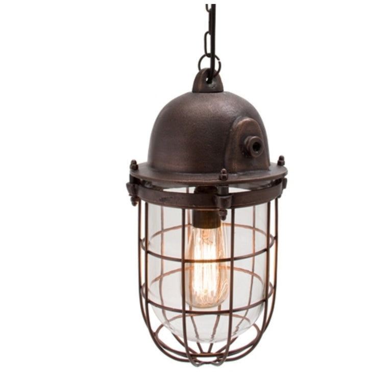 Industrial Caged Light Pendant Lighting