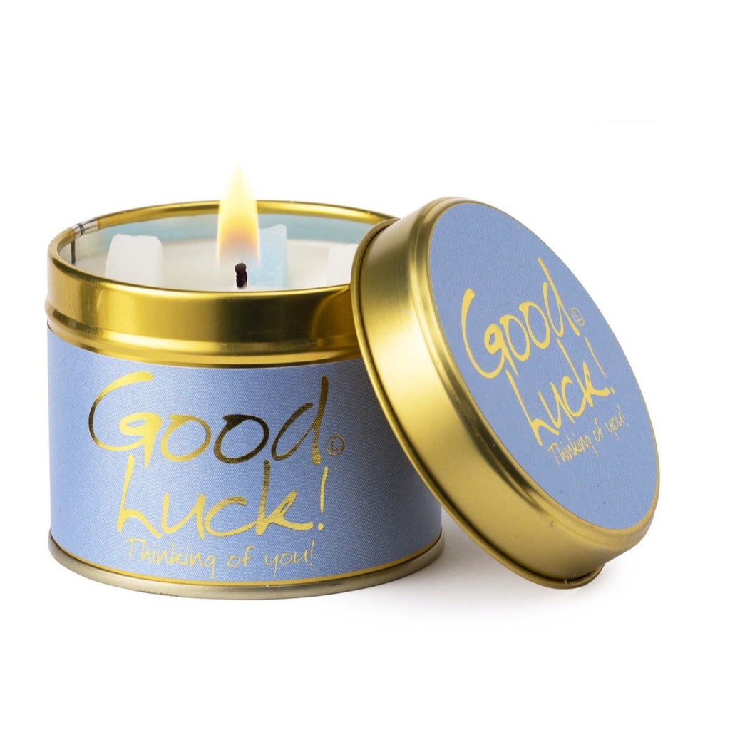 Lily-Flame Scented Tin Candle - Good Luck
