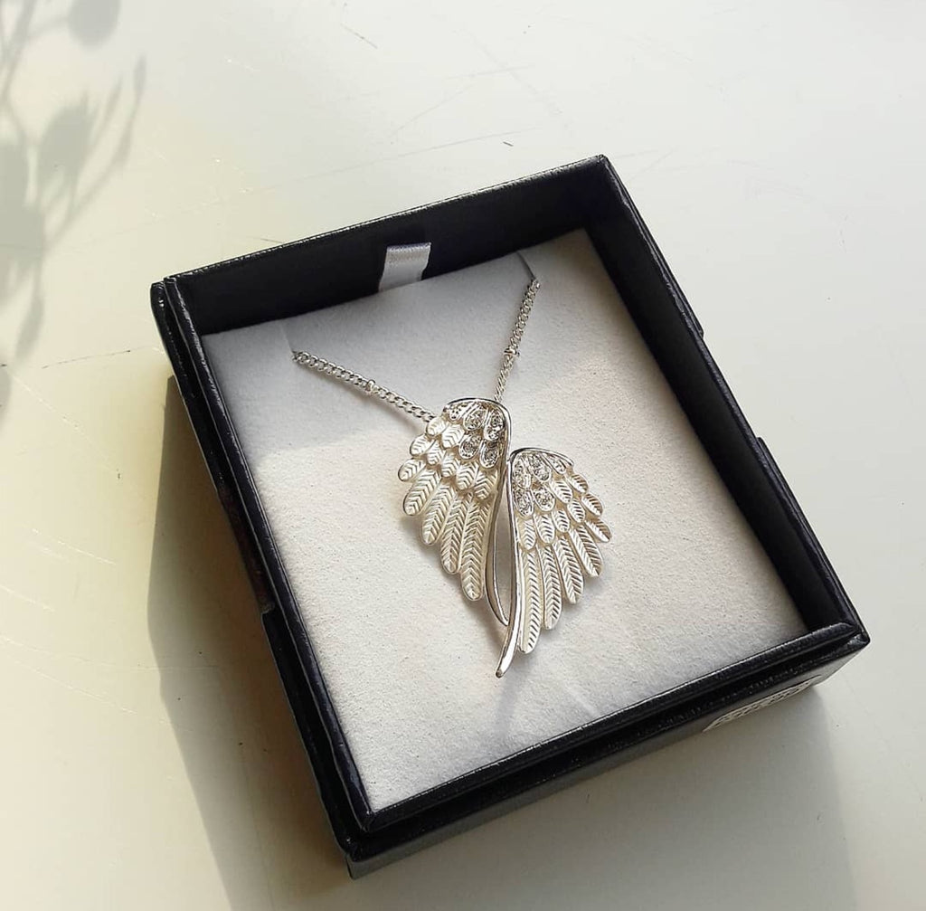 Byzantium Angel Wing Necklace - 2 Colours
