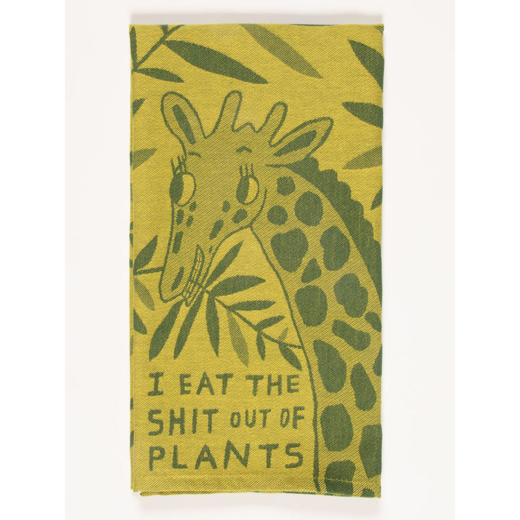 Blue Q Teal Towel - I Eat The Shit Out Of Plants