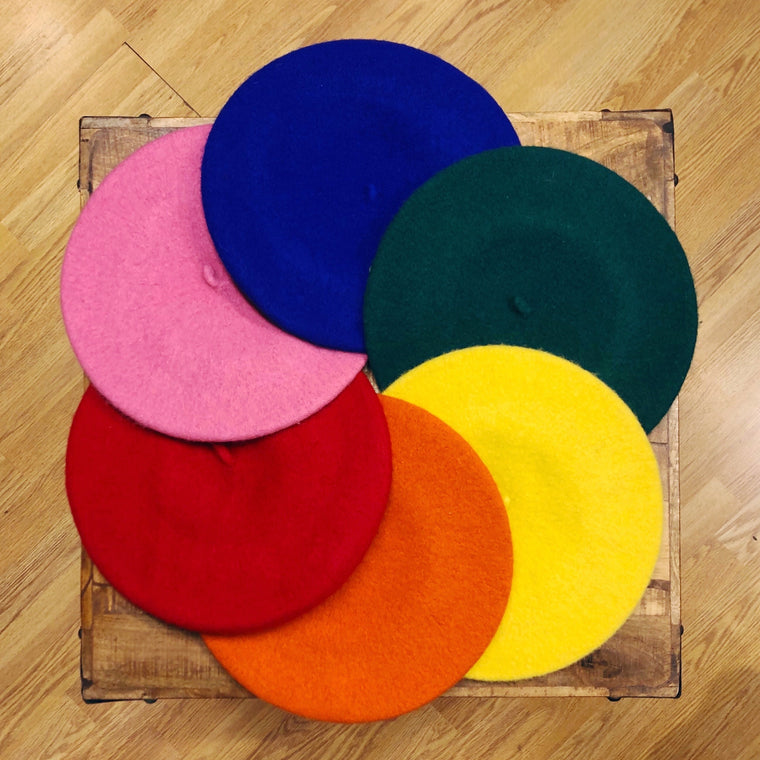 Pure Wool Beret - 12 Colours