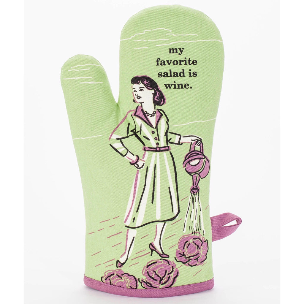 Blue Q Oven Mitt - My Favourite Salad is Wine